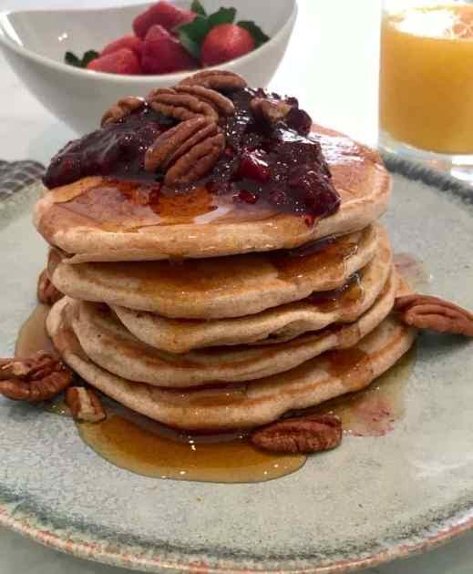 Easy Vegan Pancakes (oil-free) (Healthy Vegan Pancakes without bananas)