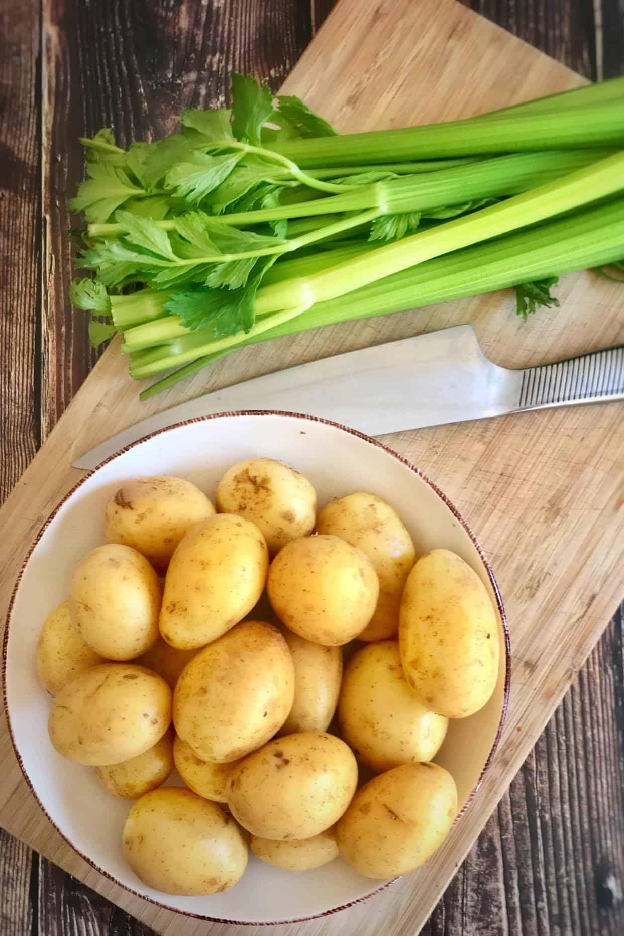 oil free vegan potato salad preparation