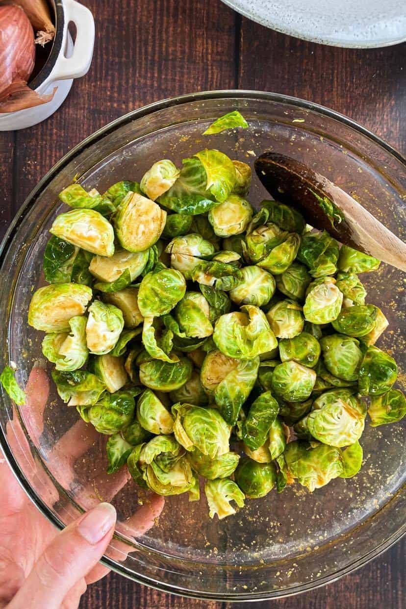how to marinade Brussels sprouts