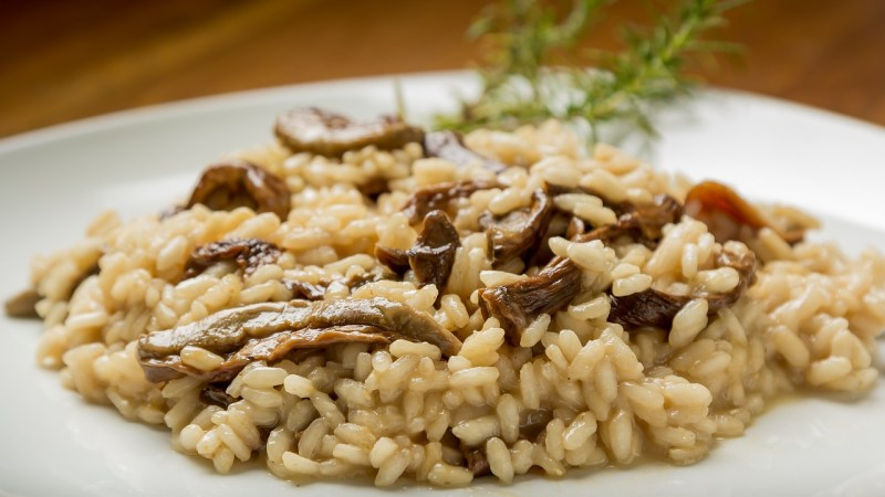 Le traditionnel risotto aux champignons