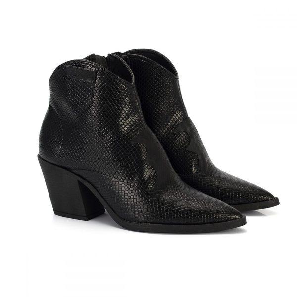 bff3aa23cd bota country west cobra preto salto baixo bico fino sintetico vegano feminina  bota feminina animal print