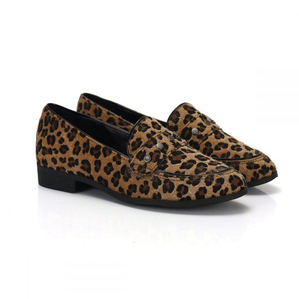 844aa47e5 Mocassim Slipper Animal Print Onça – Not-me Shoes