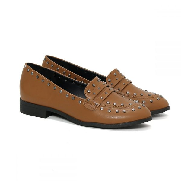 6cd1dc817f Mocassim Slipper Tachas Castor – Not-me Shoes