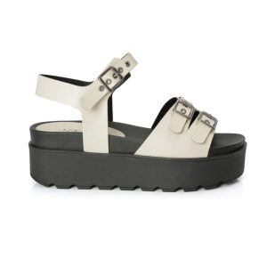 sandália tratorada, sandália com fivelas, metal, sandália feminina, sandália flat, sandália alta, verão, tamanco, confortável, sandália tiras, blogueira, moda, off white