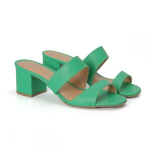 tamanco, tamanco salto baixo, tamanco trancado, tamanco 6 cm,tamanco verde