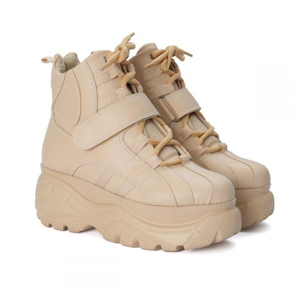 Tênis Feminino Bufalo Boot Taupe
