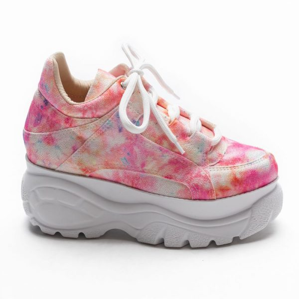 tenis feminino tie dye rosa not-me shoes (1)