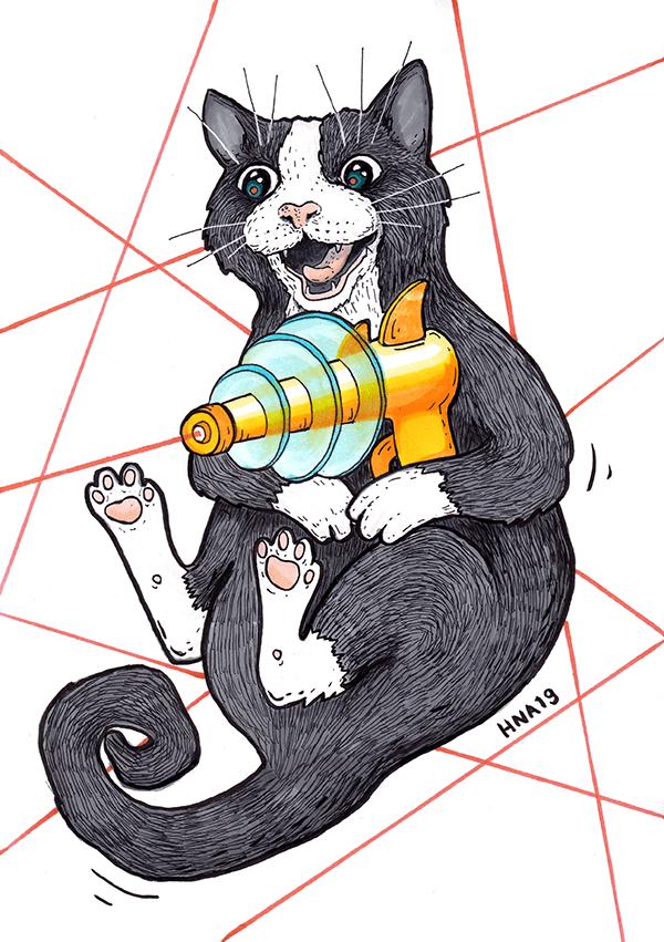 kissa juliste laser