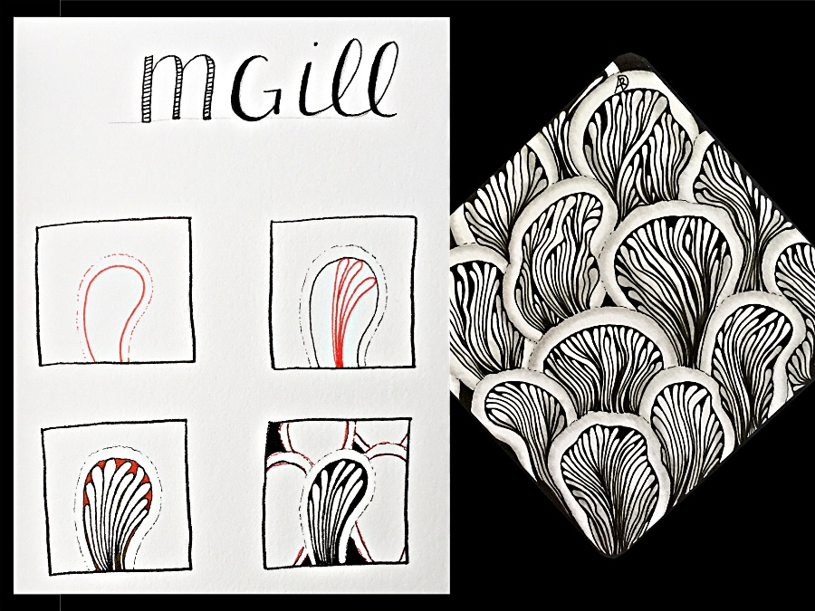 MGill Zentangle Pattern Step Out