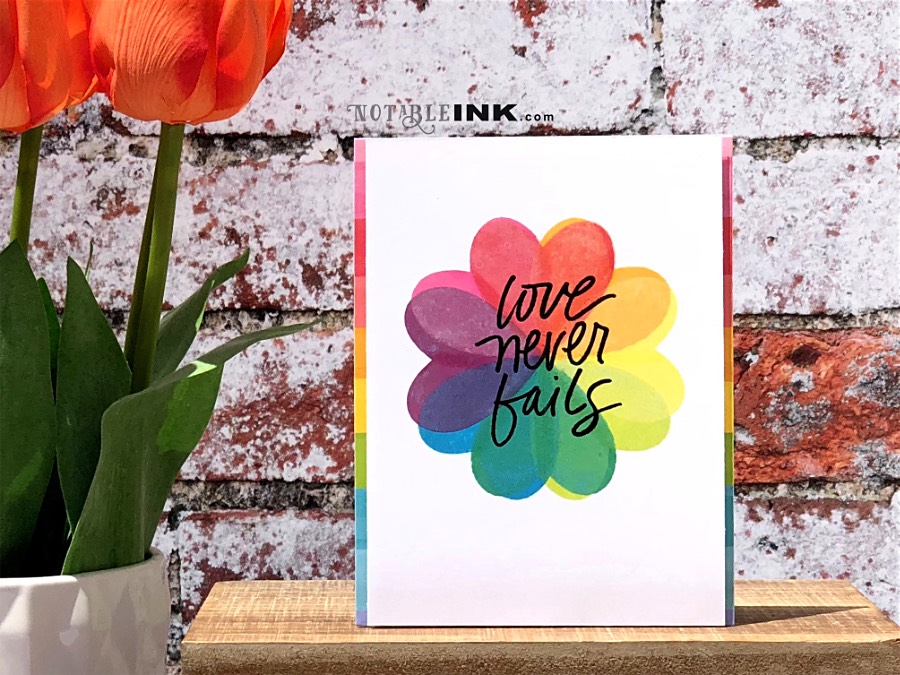 Rainbow Stamping with Distress Oxide and Simon Says Stamp