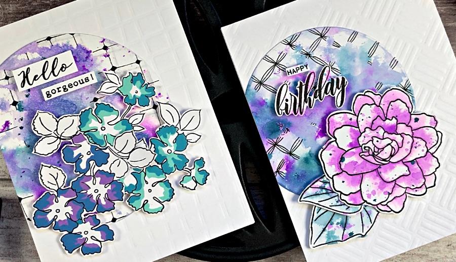 Ink Smooshing & Zentangle Card