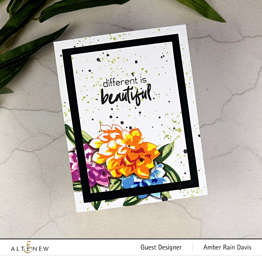 Watercolor Craft Project Resuscitation Layer Stamp Card