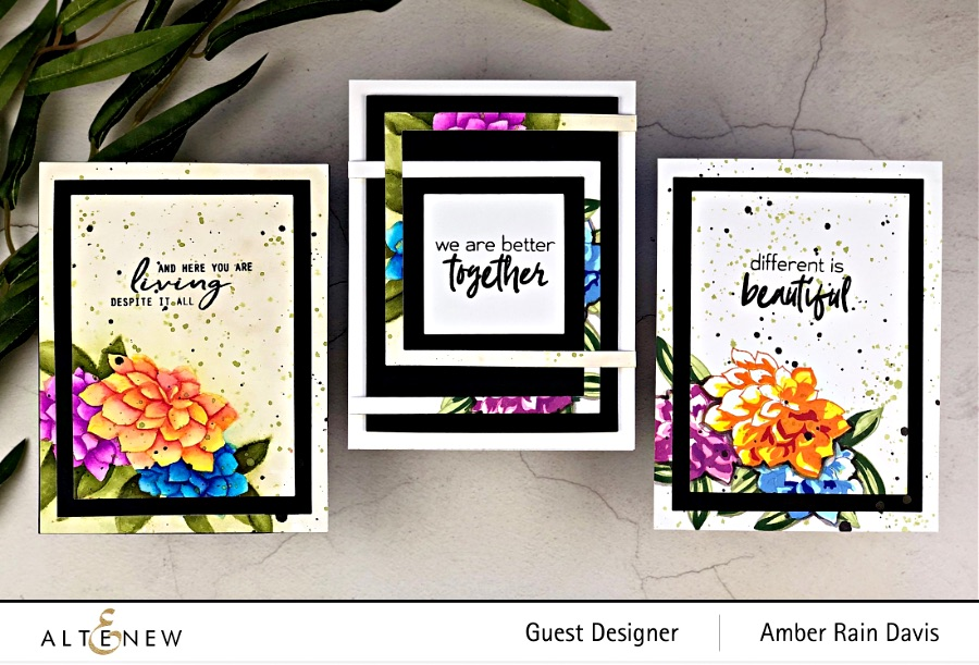 Watercolor Craft Project Resuscitation Altenew Build-A-Flower: Dahlia