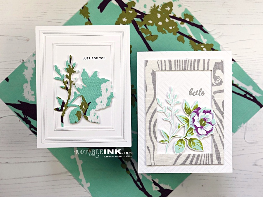 Fabric Die Cuts for handmade cards