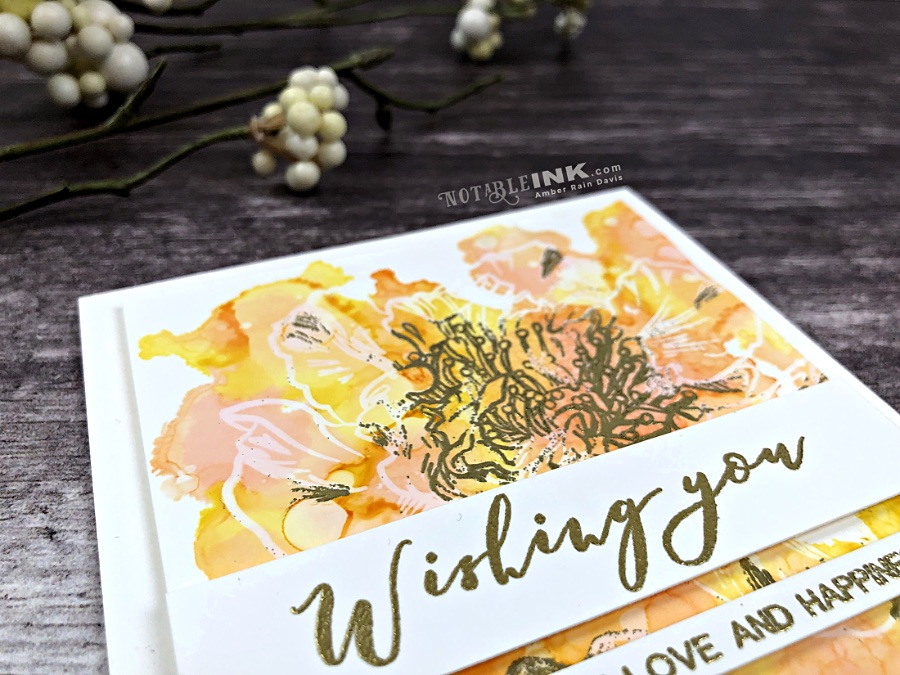 Spotlight Embossing with Altenew Engagement Wishes Stamp Set