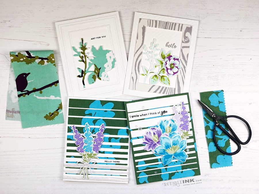 Adding Fabric to your greeting cards