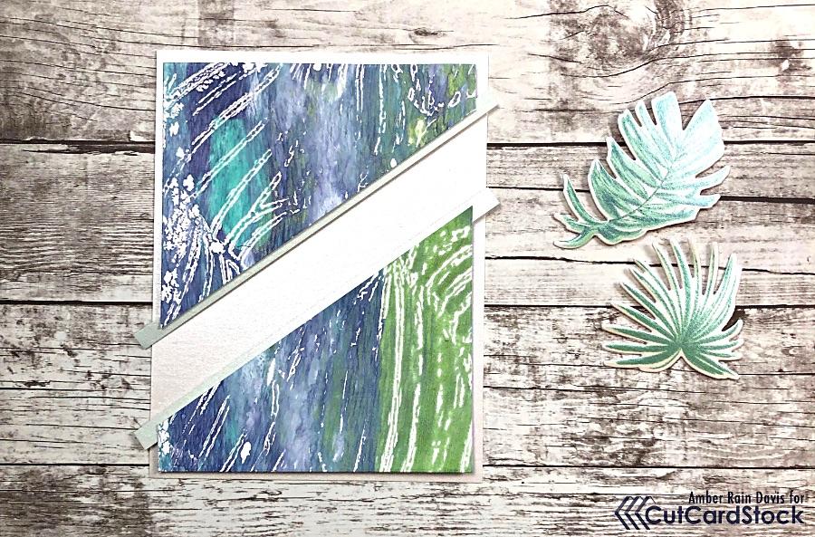 Add Strips of Curious Metallic Aloe to Gel Press Panels