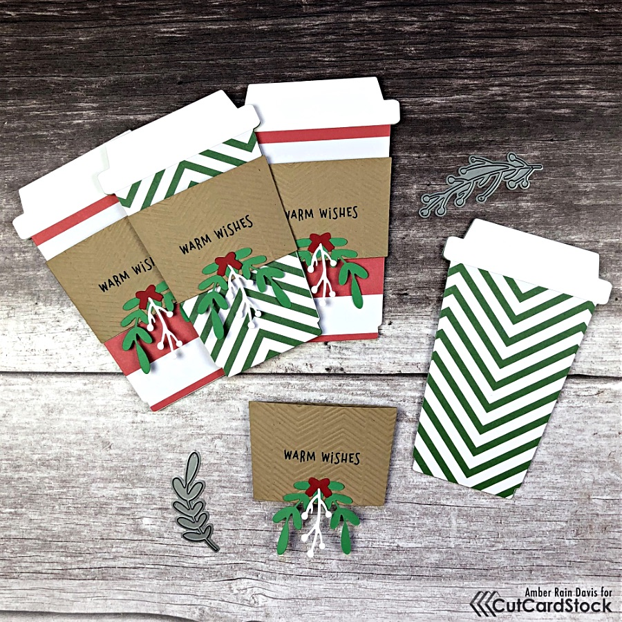 Coffee Cup Shaped Gift Card Cards