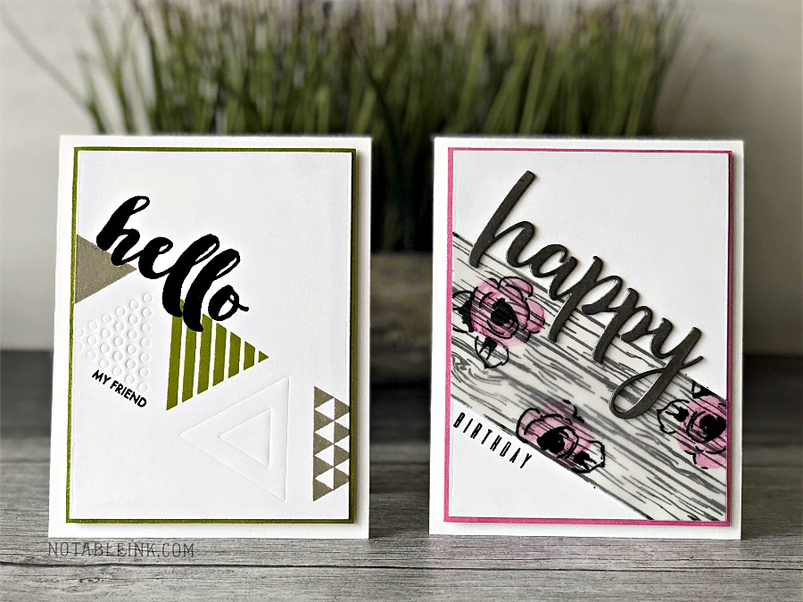 Embossing with Dies and Coloring Vellum