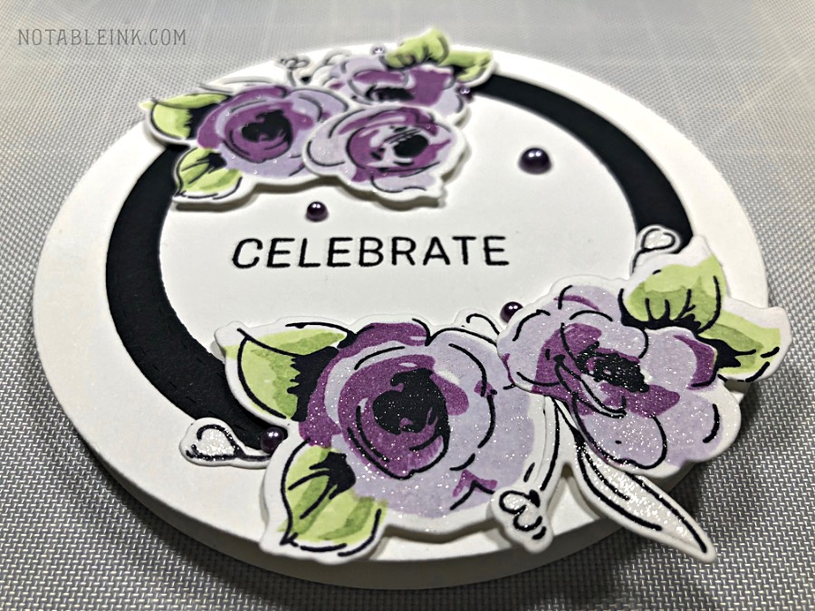 Altenew Painted Flowers Circle Shaped Card