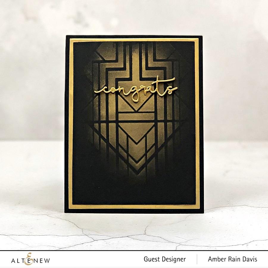 Altenew Deco Wonder Masculine Graduation Card