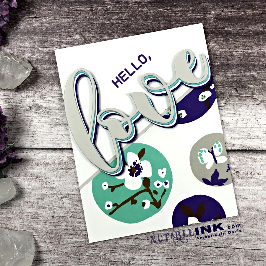 Altenew Nature Snippets Bold Ink Layering & Mega Greetings 2
