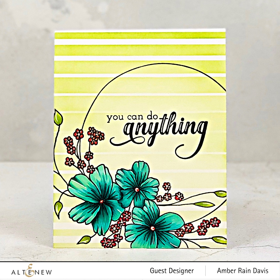 Altenew Ombre Stripes Stencil & Everlasting Happiness Stamp Set
