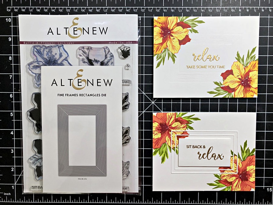 Tommy Bahama Style Card Set with Altenew Build-A-Flower: Larkspur