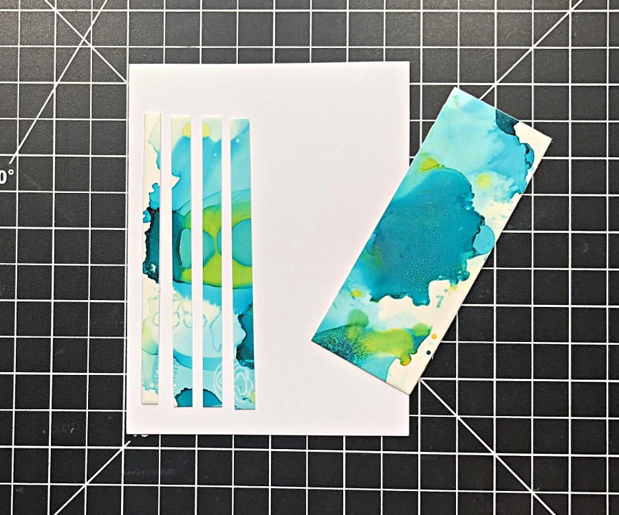 Cut scraps into 4 narrow strips