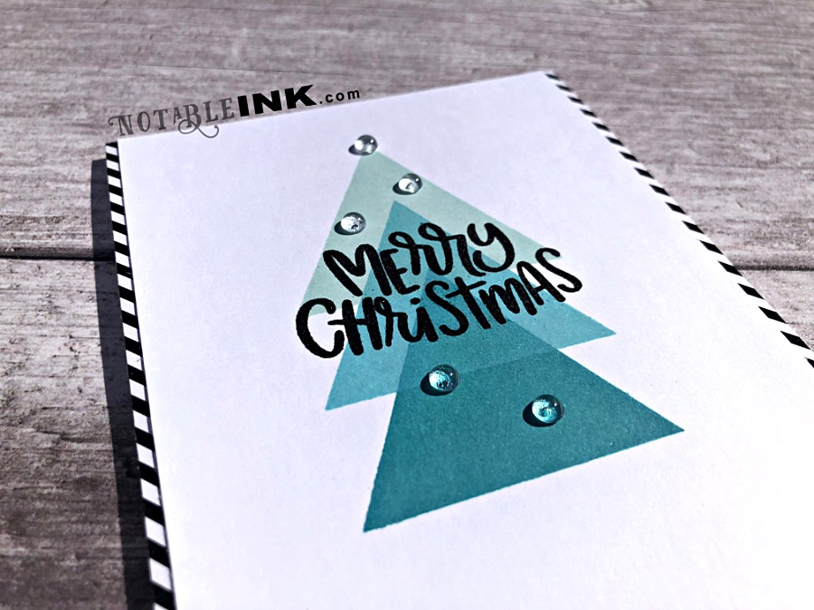Modern Christmas Card Set