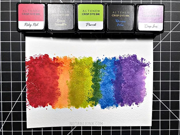 Inking Technique with Altenew Watercolor Frames Stamp Set