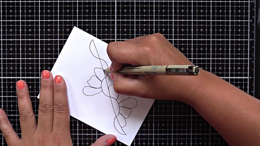 Draw funky petals