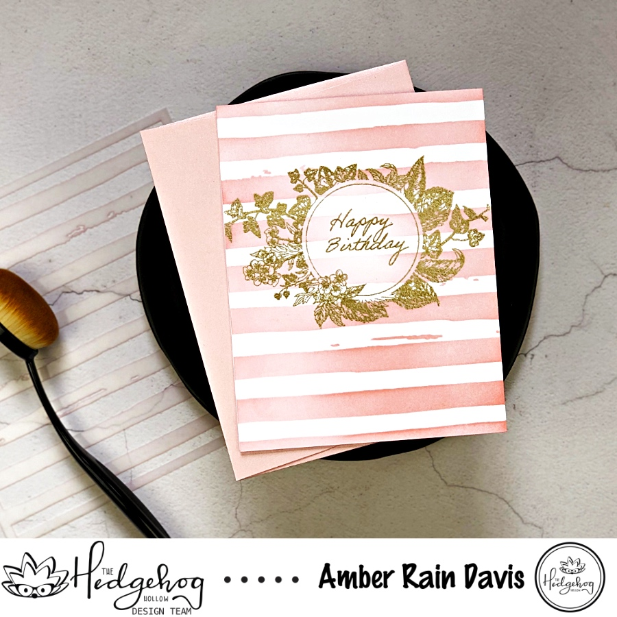 The Hedgehog Hollow May 2019 Kit; Altenew Watercolor Stripes Stencil
