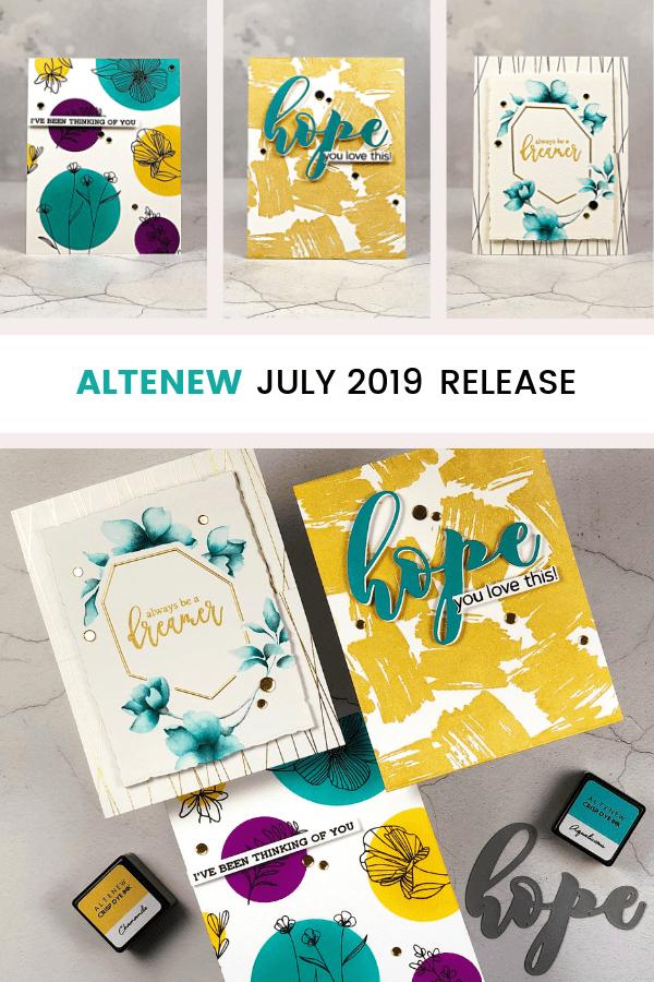 Pinterest | Altenew July 2019 Release | No-line Watercolor & Graphic Design
