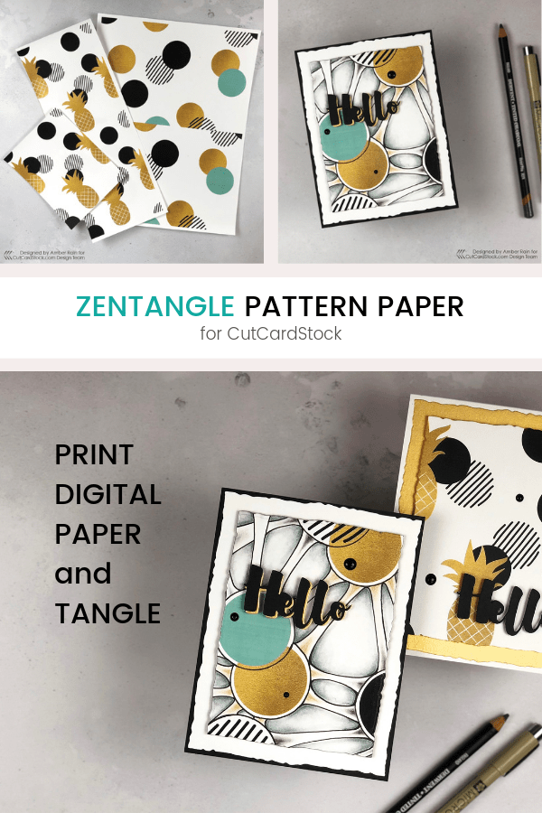 Zentangle Pattern Paper | CutCardStock | Pinterest