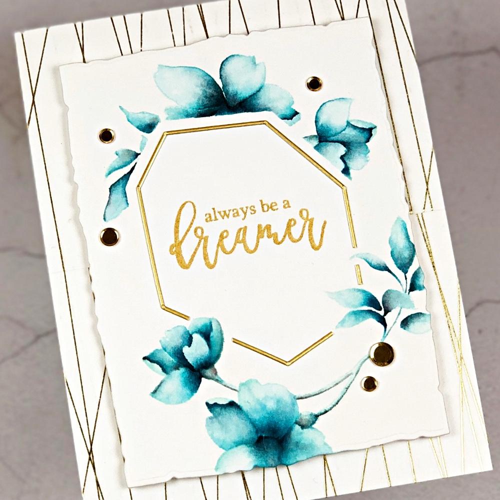 No-line watercolor with Altenew Pen Sketched Flowers & Crisp Dye Inks