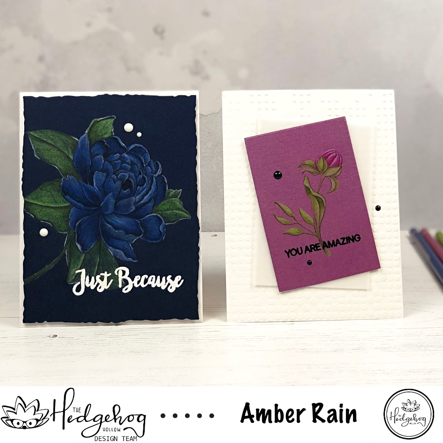 COLOR PENCILS ON DARK & SHIMMER CARDSTOCK | THE HEDGEHOG HOLLOW AUGUST 2019 KIT