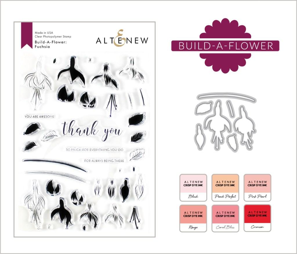 Altenew Build-A-Flower: Fuchsia Ink Bundle