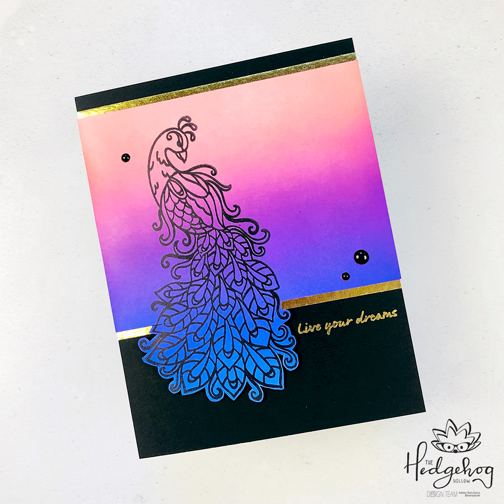 Distress Oxide Ink Peacock Card | The Hedgehog Hollow September 2019 Box