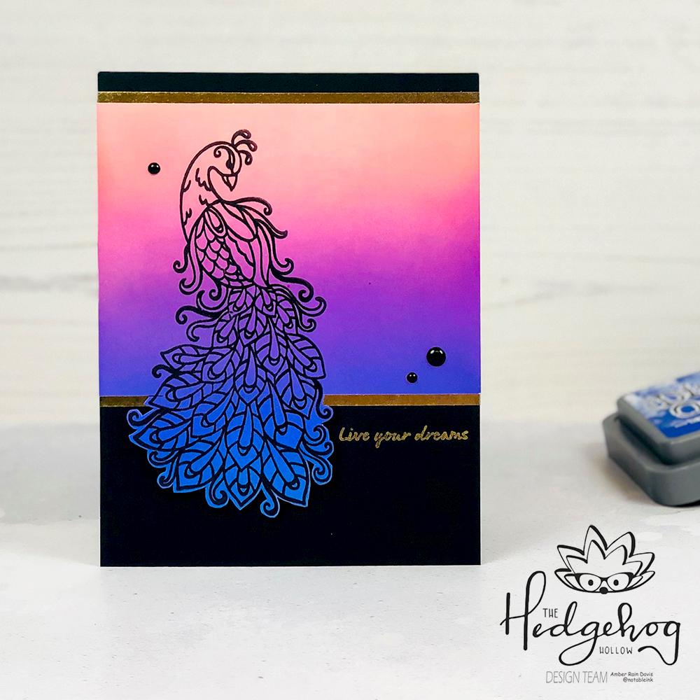 Distress Oxide Ink Peacock Card   The Hedgehog Hollow September 2019 Kit