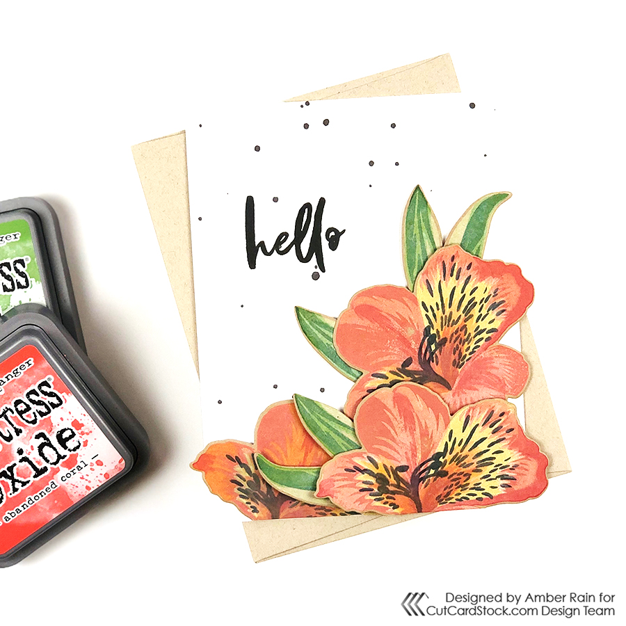 Play with Distress Oxides on Kraft