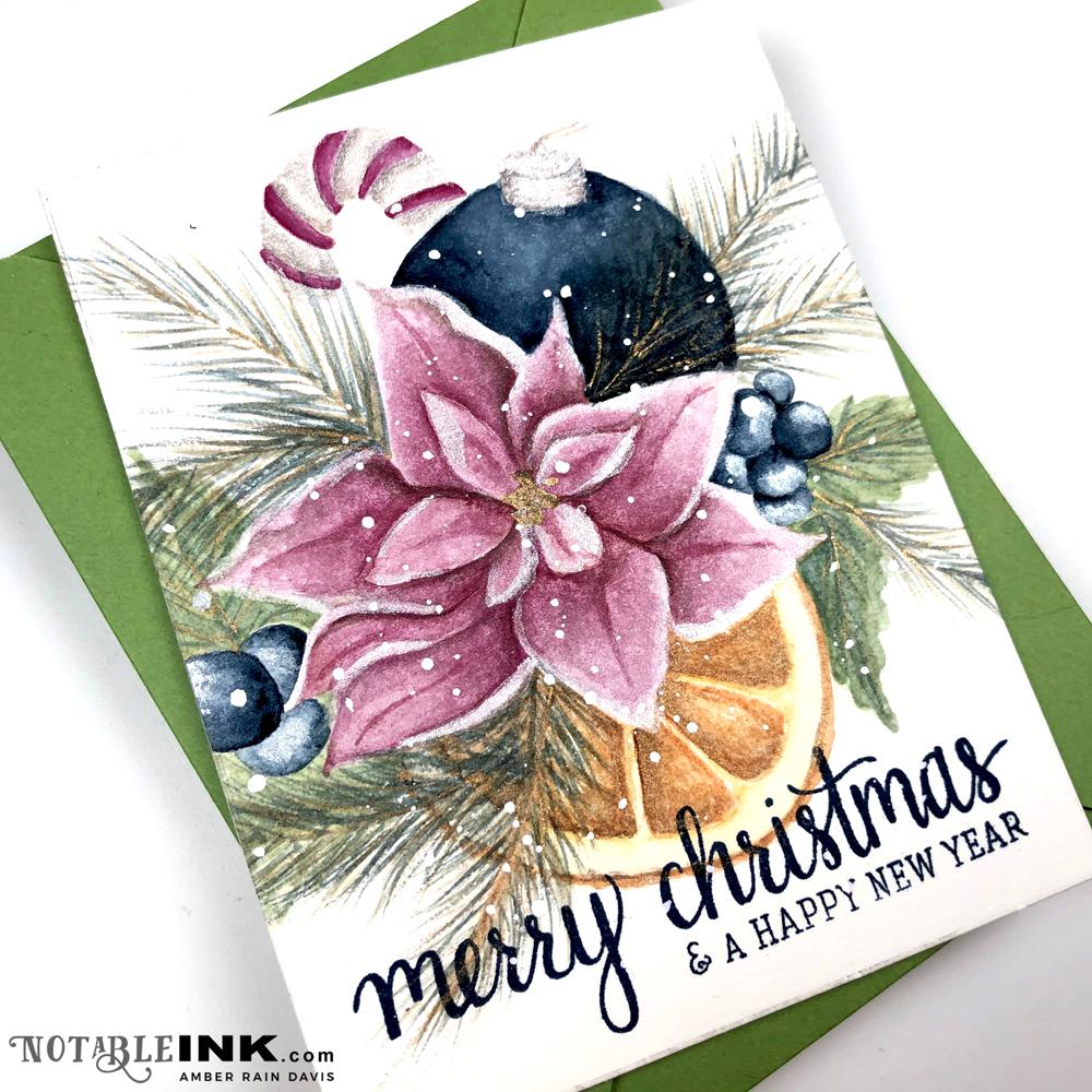 Watercolor Christmas Bouquet
