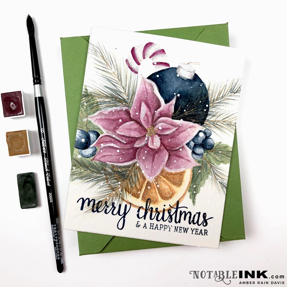 Watercolor Christmas Bouquet | Alex Syberia & Letter Sparrow