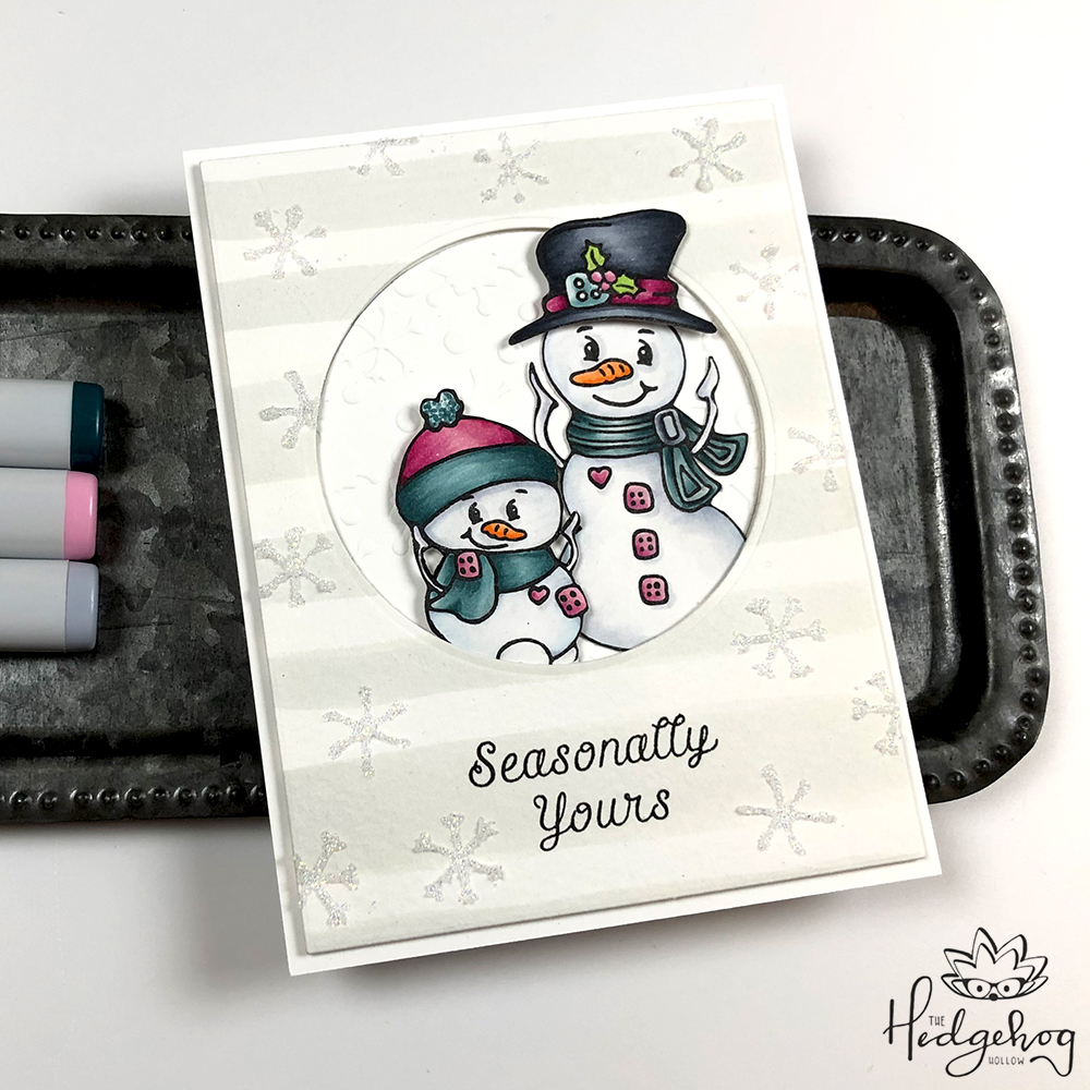 Copic Colored Snowmen