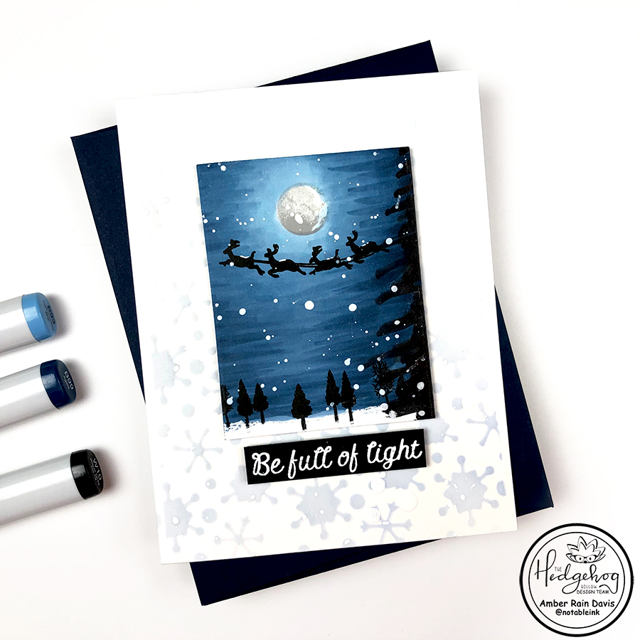 Mini Copic Winter Scene