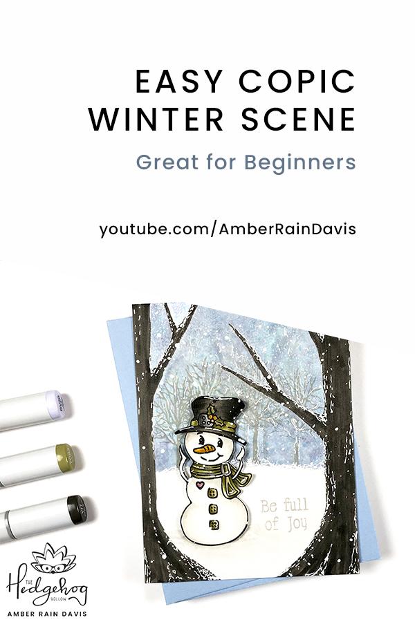 PINTEREST Easy Copic Winter Scene
