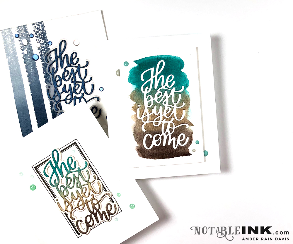 CAS Watercolor + Hand-Lettered Die | Simon Says Stamp DieCember 2019