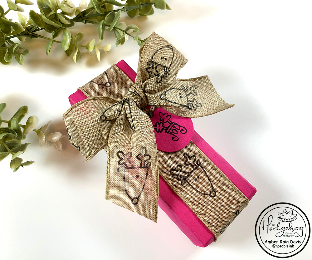 DIY Stamped Gift Wrap Ribbon