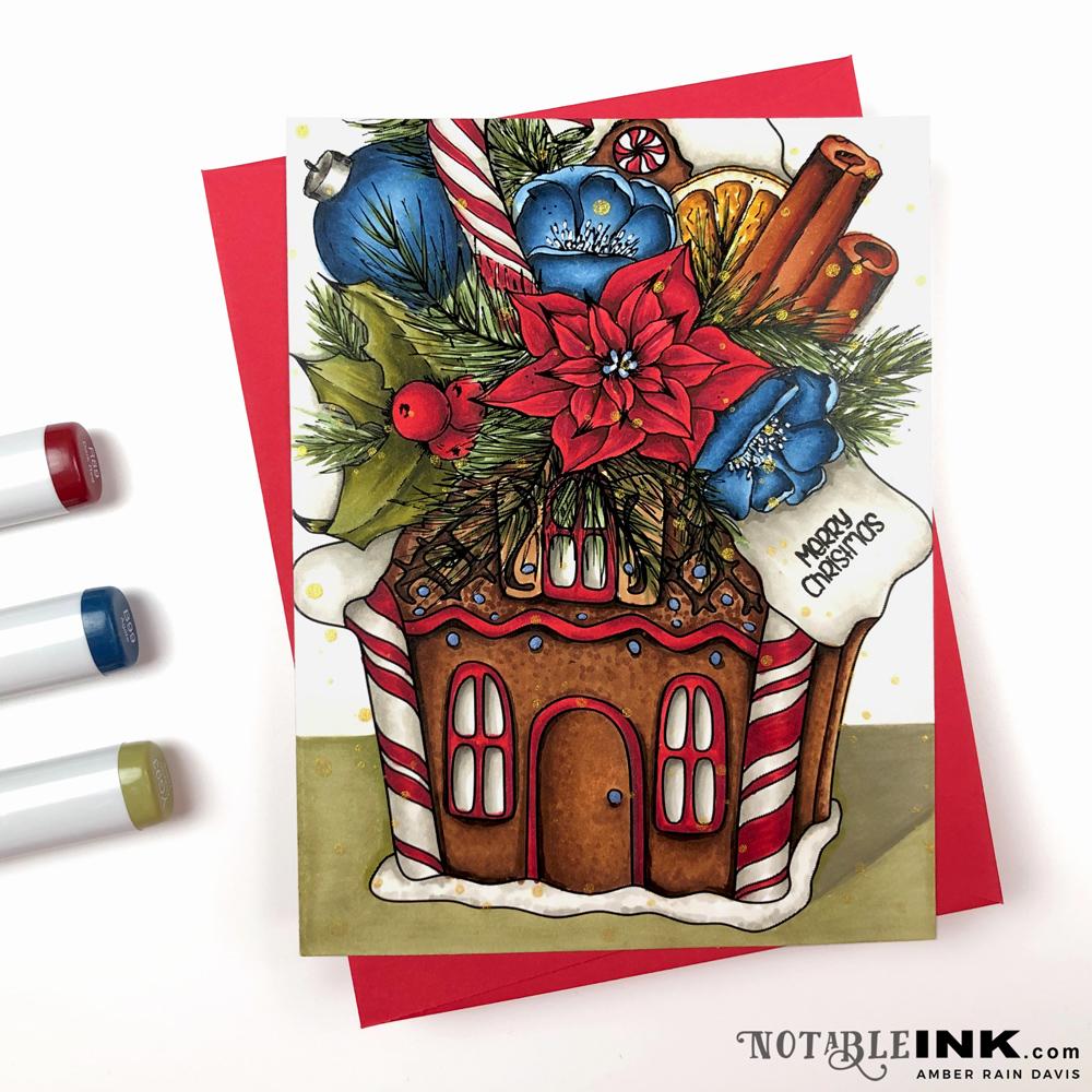 Copic Gingerbread House Bouquet | Alex Syberia Design