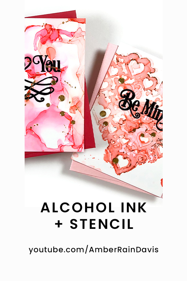 PINTEREST | Fun Alcohol Ink + Stencil Technique